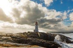 Faro NS Canada della baia di Peggys Fotografie Stock Libere da Diritti