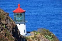 Faro Oahu de barlovento, Hawaii del ` u de Makapu imágenes de archivo libres de regalías