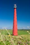 Faro in Olanda sulla spiaggia Fotografia Stock