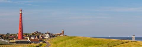 Faro olandese in Den Helder immagine stock