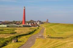 Faro olandese in Den Helder fotografia stock libera da diritti
