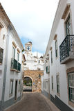 Faro old village. Entry arc, Portugal Royalty Free Stock Photography