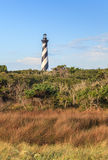 Faro Outer Banks Carolina del Norte de Hatteras del cabo Fotografía de archivo
