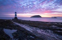 Faro País de Gales de Penmon Fotografía de archivo