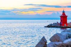 Faro in Piran, Slovenia Fotografie Stock