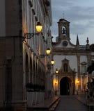 Faro Portogallo al crepuscolo Fotografia Stock Libera da Diritti