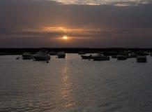 Faro Portogallo Marina At Sunset Immagini Stock
