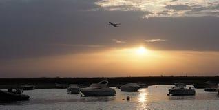 Faro Portogallo Marina At Sunset Fotografia Stock Libera da Diritti