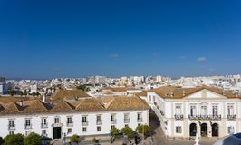 Faro Portugal from above rooftops clay shingles royalty free stock photos