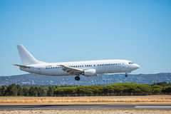 FARO, PORTUGAL - Juny 30, 2017 : Flights aeroplane landing on Faro International Airport. Airport stock photography