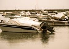 Faro Portugal Marina With Small Boats. Faro Portugal marina with many small boats anchored to wharfs Stock Photography