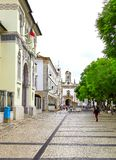 Street view of Faro, Portugal royalty free stock photo