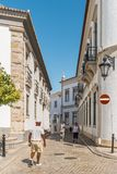FARO, PORTUGAL - October 01, 2016: Old city center of Faro, Alga Stock Photography
