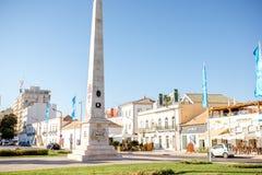 Column in Faro city, Portugal Royalty Free Stock Photo