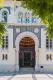 FARO PORTUGAL - OKTOBER 01 2016: Banco byggnad för de Portugal i t Arkivbild