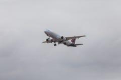 FARO PORTUGALIA, Juny, - 24, 2017: Brukselscy linia lotnicza loty aero Zdjęcia Royalty Free