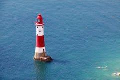 Faro principal con playas Imagen de archivo libre de regalías