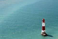 Faro principal con playas Fotos de archivo libres de regalías