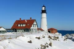 Faro principal de Portland, Maine Fotografía de archivo libre de regalías