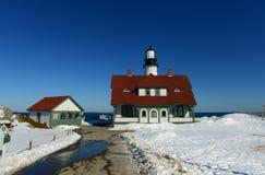 Faro principal de Portland, Maine Fotografía de archivo