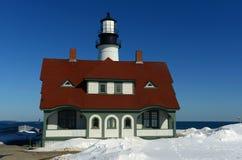 Faro principal de Portland, Maine Foto de archivo libre de regalías