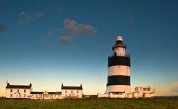 Faro principal del gancho de leva, Irlanda Imagen de archivo libre de regalías