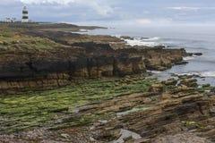 Faro principal del gancho - península del gancho - condado Wexford Imagenes de archivo