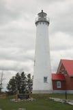 Faro - punta de Tawas, Michigan foto de archivo