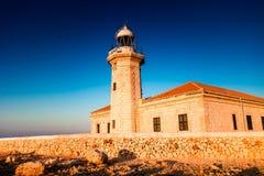 Faro Punta Nati, lighthouse Stock Photo