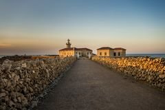 Faro Punta Nati, lighthouse Royalty Free Stock Photography