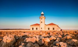 Faro Punta Nati, lighthouse Stock Photography