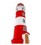 Faro rojo aislado stock de ilustración