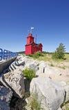 Faro rojo grande en Michigan Imagen de archivo