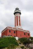 Faro rosso Fotografie Stock Libere da Diritti