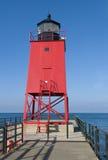 Faro rosso Immagini Stock Libere da Diritti