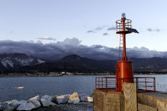 Faro rosso  Fotografia Stock