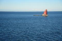 Faro rosso Fotografie Stock