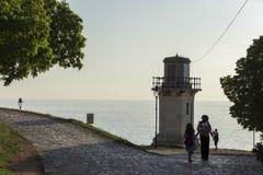 Faro in Rovigno Immagini Stock