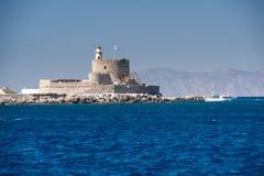 Faro San Nicola a Rodi, Grecia Fotografie Stock Libere da Diritti