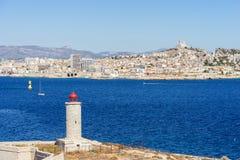 Faro situato sull'isola di se Fotografie Stock