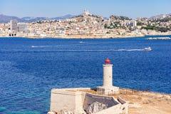 Faro situato sull'isola di se Fotografia Stock Libera da Diritti