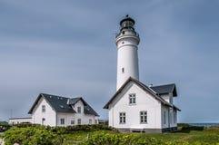 Faro in Skagen, Danimarca fotografia stock libera da diritti