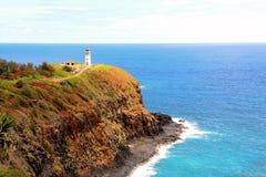 Faro su Kauai Immagini Stock