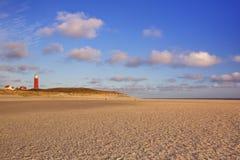 Faro su Texel nei Paesi Bassi alla luce di mattina Immagini Stock