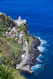 Faro sul sao Miguel dell'isola delle Azzorre Fotografia Stock Libera da Diritti