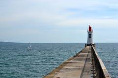 Faro sull'Atlantico, Francia ad ovest Fotografia Stock Libera da Diritti