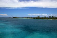 Faro sull'isola Nassau Bahamas di paradiso Fotografia Stock Libera da Diritti