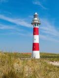 Faro sulla costa del Mare del Nord Fotografia Stock