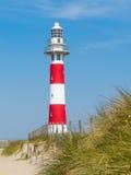 Faro sulla costa del Mare del Nord Immagine Stock Libera da Diritti