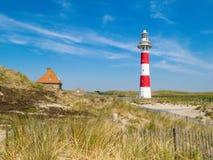 Faro sulla costa del Mare del Nord Fotografia Stock Libera da Diritti